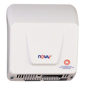 World Dryer Nova Aluminum Hand Dryer, White (110-240v)