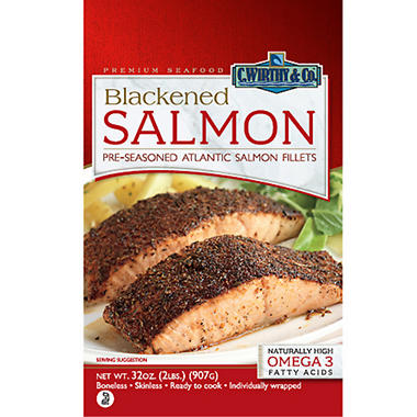 C.Wirthy & Co. Blackened Salmon Fillets - 2 lbs.