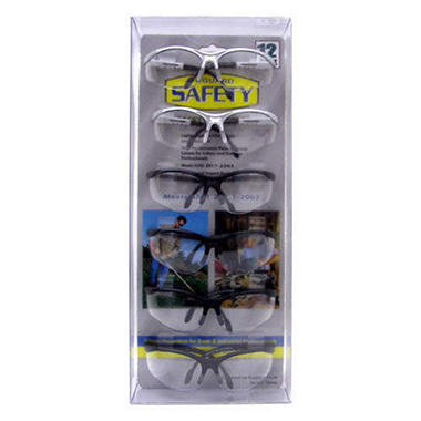 SafetyVu Clear Safety Glasses - 12 pk.