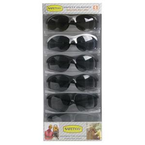 High Performance Safety Glasses - Smoke - 6 ct.