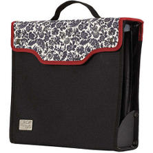 Paper Taker Organizer Tote - Black/Cream/Red