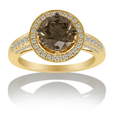 2.68 ct. t.w. Champagne Solitaire Ring