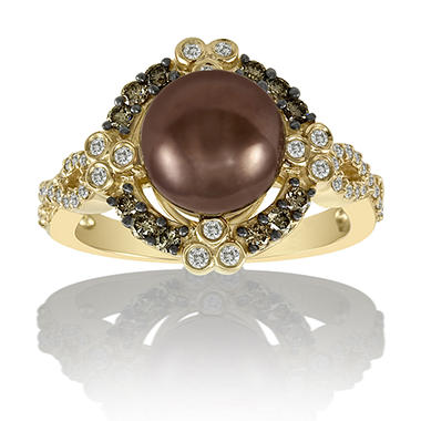 Chocolate Pearl™ & Chocolate Diamonds™ Ring