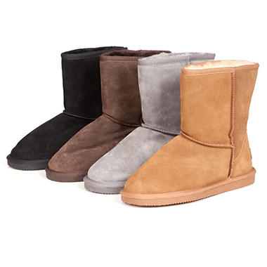 Beach Feet Genuine Leather Shearling Boot