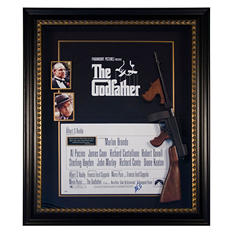 """""""The Godfather"""" Al Pacino Autographed Movie Display"""