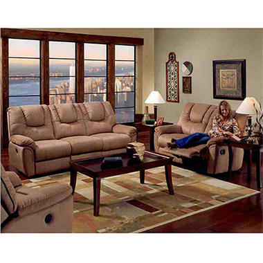 Microfiber Power Sofa, Recliner & Loveseat Recline