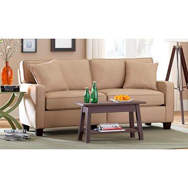 Coco Track Arm Sofa, Ivory