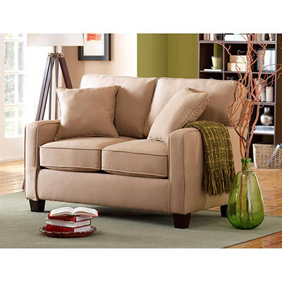 Coco Track Arm Loveseat, Ivory
