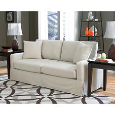 Lilly Slipcover Sofa, Ivory