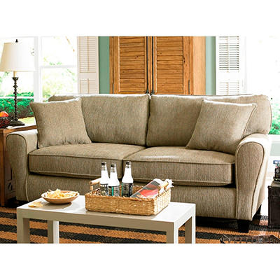 Angel Teardrop Arm Sofa, Pewter