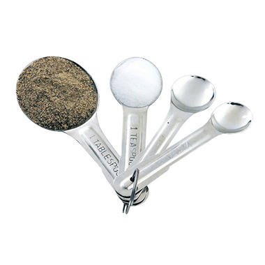 Artisan Metal Works Stainless Steel 4 Piece Measuring Spoon Set