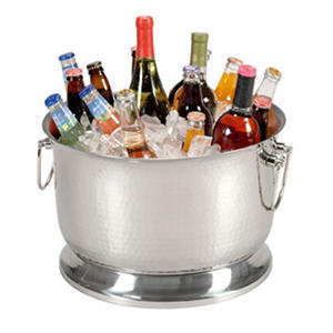 Artisan Metal Works Insulated Stainless Steel Party Tub - 17 pt or 34 qt.