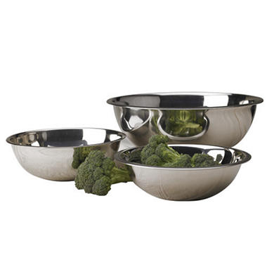 Polar Ware Stainless Steel Mixing Bowls - 3 pk.