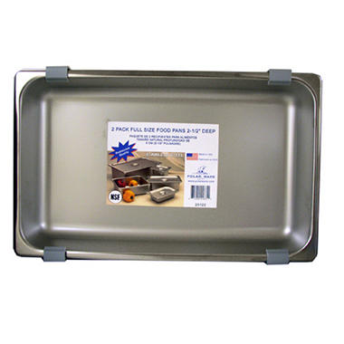 Polar Ware Full Size Steam Table Pan Set - 2 pk.