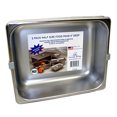 Polar Ware Stainless Steel Half Size Steam Table Pan