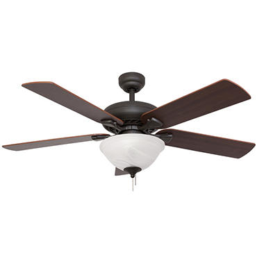 "52"" Bronze Gatlinburg Ceiling Fan with Remote"