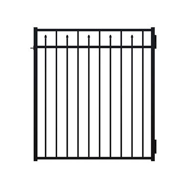 "Tall Paul Black Ornamental Aluminum Gate - 54"" x 48"""