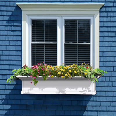 Yorkdale 4' Window Box - White
