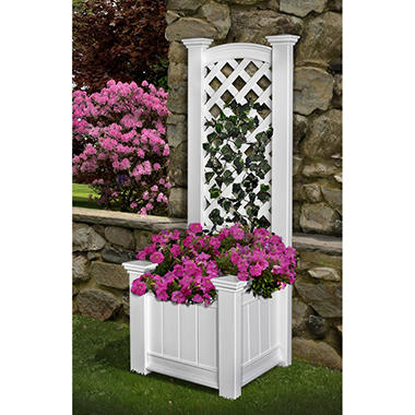 Kingston Planter Box with Trellis