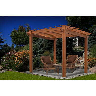 Lakewood 6.5 ft. x 6.5 ft. Vinyl Pergola