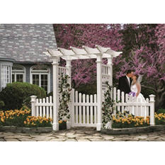 Fairfield Arbor with Gate and Wings