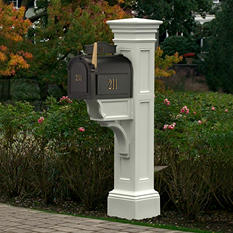 Liberty Mail Post - White