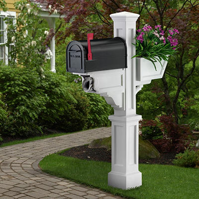 Signature Plus Mail Post - White