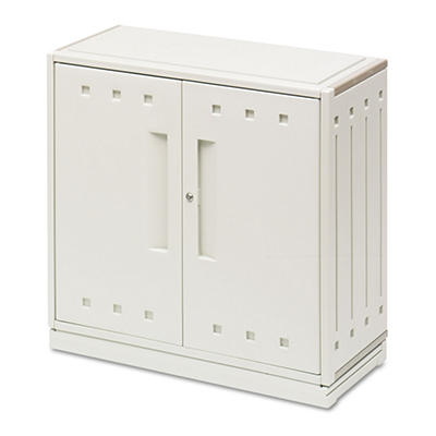 "Iceberg - SnapEase Storage Cabinet, Resin, 35"" High - Platinum"