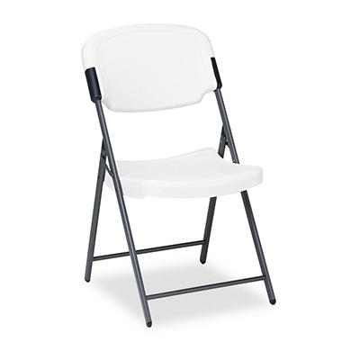 Iceberg - Rough N Ready Resin Folding Chair, Steel Frame- Various Colors