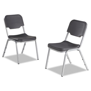 Iceberg Rough'N'Ready Series Original Stack Chair, Black - 4 pack