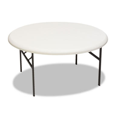 Iceberg 5' Indestruct-Table Round Folding Table - Platinum