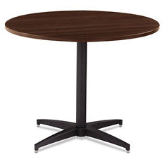 "Iceberg OfficeWorks 36"" Round Conference Table Top, Espresso"