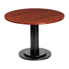 "Iceberg OfficeWorks 23 1/2"" Single Column Base for Round Table Tops, Black"