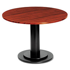 "Iceberg OfficeWorks 36"" Round Conference Table Top, Mahogany"