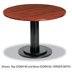 "Iceberg OfficeWorks 42"" Round Conference Table Top, Mahogany"