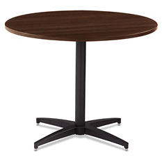 "Iceberg OfficeWorks 48"" Round Conference Table Top, Espresso"