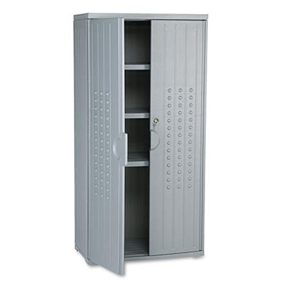 "Iceberg - OfficeWorks Resin Storage Cabinet, 18"" - Charcoal"
