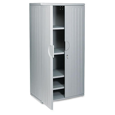 "Iceberg - OfficeWorks Resin Storage Cabinet, 72"" High - Charcoal"