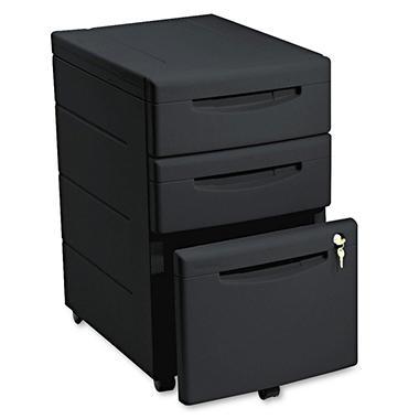 Iceberg - Aspira Mobile Underdesk Pedestal File, Resin, 2 Box/1 File Drawers, A4/Letter/Legal, 22