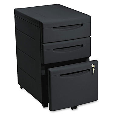 "Iceberg - Aspira Mobile Underdesk Pedestal File, Resin, 2 Box/1 File Drawers, A4/Letter/Legal, 22""- Black"