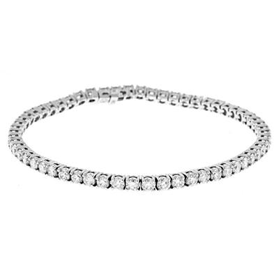 5.0 ct. t.w. Round-Cut Prong-Set Diamond Bracelet in 14K White Gold (I, I1)