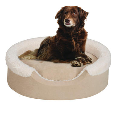 Oval Cuddler Pet Bed with Cushion - Tan