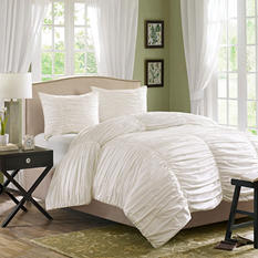 Cambria Comforter Set (3 pcs.) - Various Sizes (White)