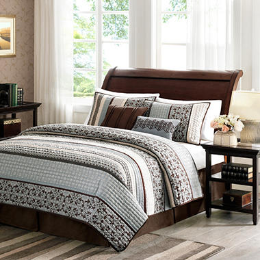 Princeton Quilted Jacquard Coverlet Set - 5 pc. - Full/Queen