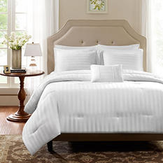 300 Thread Count Cotton Damask Stripe Dobby Comforter Set (4 pcs.) - Various Sizes & Colors