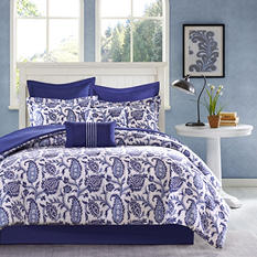 Montauk 8-Piece Comforter Set - Various Sizes (Blue)
