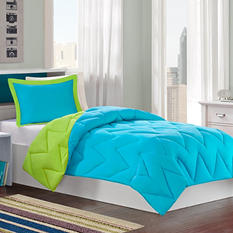 Reversible Microfiber Down Alternative Comforter Mini Set - Various Sizes and Colors