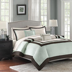 Hotel 200 Thread Count Cotton 5-Piece Comforter Set - Various Size & Colors