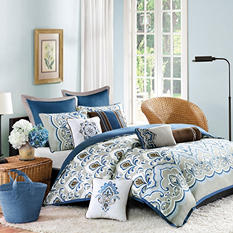 Portia Coverlet Mini Set - Various Sizes (Blue)