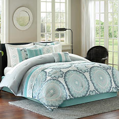 Delphine 7-Piece Comforter Set - Various Sizes